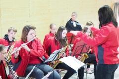 Feldgottesdienst 29.8.21: Jungmusik Kriessern unter der Leitung von Anna-Joel Wüst.