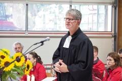 Feldgottesdienst 29.8.21: Pfarrer Andreas Brändle.