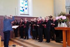 Betagsgottesdienst 15.9.2019 evang. Kirche Diepoldsau: der Kirchenchor unter der Leitung von Klaus Roggors.