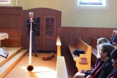 Betagsgottesdienst 15.9.2019 evang. Kirche Diepoldsau: Anders Stokholm am Alphorn.