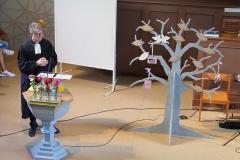 Pfr. Andreas Brändler predigt zur Einweihung des Gemeindebaums, Sonntag, 23. August 2020, evang. Kirche Diepoldsau