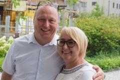 Monika Frei, Mitglied der Kirchenvorsteherschaft und des Fritigstreffteams, mit ihrem Gatten Kurt