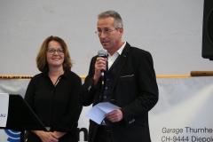 Fahnengotte Gabi Gresser und Fahnengötti René Bognar