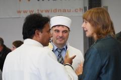 Von links: Kaplan Georg Changeth, Imam Zekai Aydin, Pfarrerin Silke Dohrmann