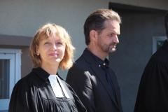 Pfarrerin Silke Dohrmann und Katechet Rainer Reich.
