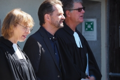 Von links: Pfarrerin Silke Dohrmann, Katechet Rainer Reich und Pfr. Andreas Brändle.