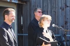 """Pfarrerin Silke Dohrmann predigte über das Thema """"Mut"""", welches auch das Jahresthema der Konfirmandinnen und Konfirmanden ist."""