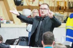 Daniel Ritter, Dirigent des MV Diepoldsau-Schmitter - Feldgottesdienst vom 30. August 2020