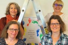 Das Leiterteam des Fruitigstreffs, hinten, von links: Katja Roelli, Monika Frei; vorne, von links: Jeannette Steiger, Heidi Heule.