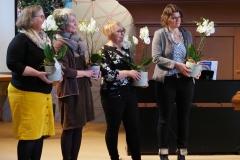 Auch die Leistungen des Fritigstreff-Teams werden verdankt, von links: Jeannette Steiger, Katja Roelli, Monika Frei und Heidi Heule.