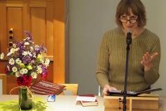 Pfarrerin Silke Dohrmann moderierte und hielt den Wortgottesdienst.